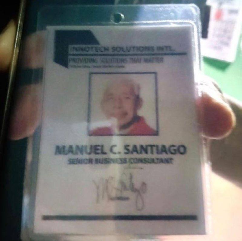 MANILA. Police recover an identification card