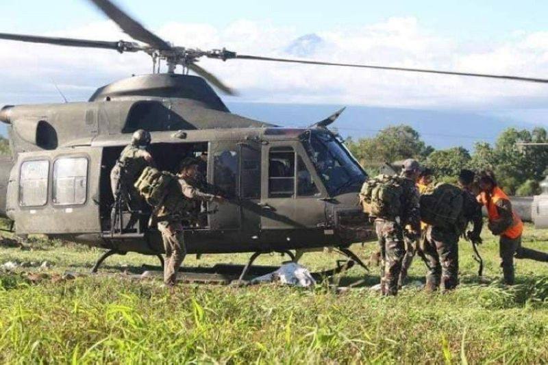 CLASH. A soldier belonging to the 62IB was slightly wounded while an unidentified member of suspected New People's Army (NPA) was killed in two simultaneous encounters between government troopers and the NPA rebels in Guihulngan City, Negros Oriental Friday, August 14, 2020. (303rd Brigade photo)