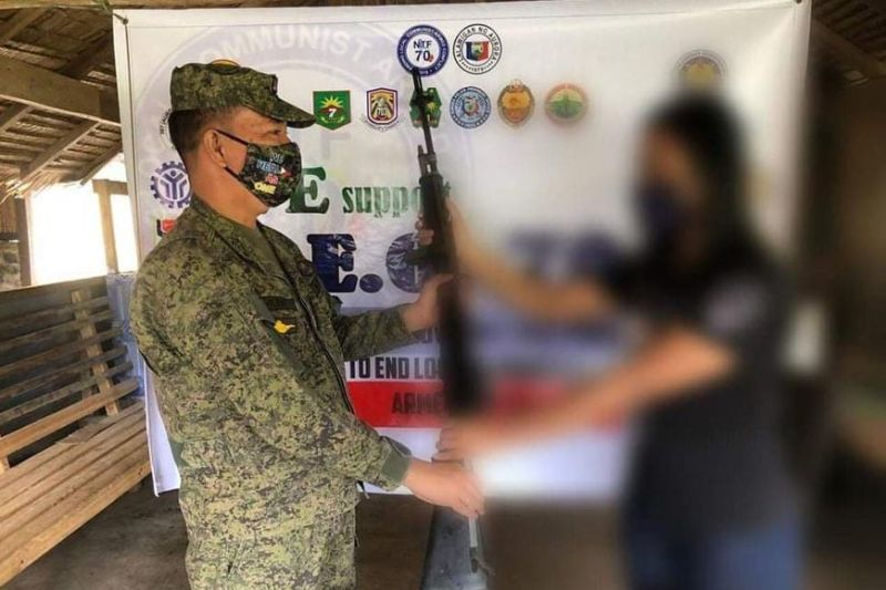 SURRENDEREE. A rebel in Aurora returned to the folds of government. He voluntarily surrendered to Army's 91st Infantry Battalion in Baler, Aurora. (91st Infantry Battalion)