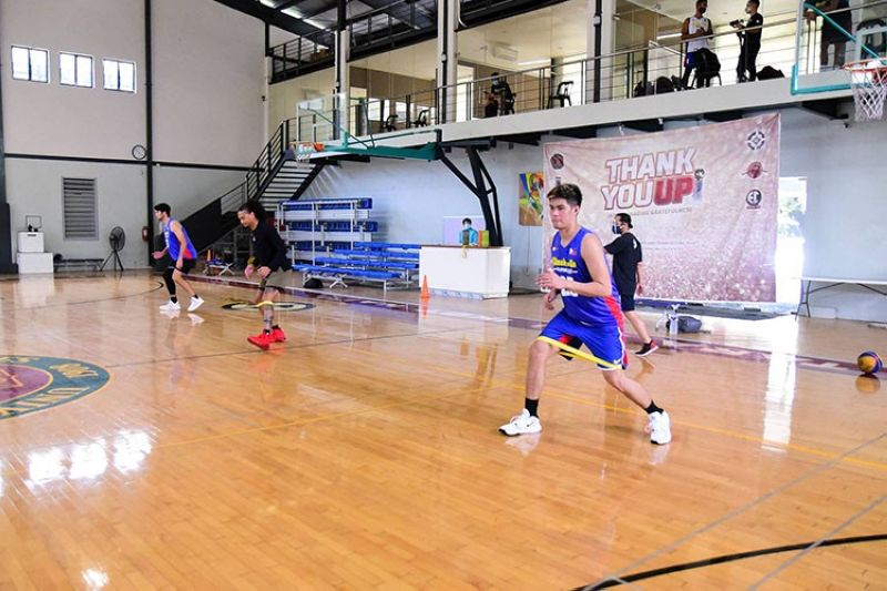 Cebuano forward Leonard Santillan and the rest of his Zamboanga City Family's Brand Sardines started training in the UP Epsilon Chi Gymnasium. (Chooks-to-Go photo)