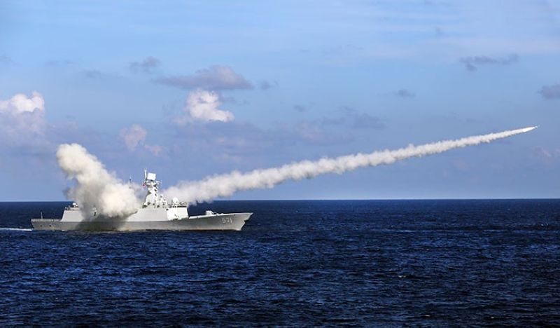 CHINA. In this Friday, July 8, 2016, file photo released by Xinhua News Agency, Chinese missile frigate Yuncheng launches an anti-ship missile during a military exercise in the waters near south China's Hainan Island and Paracel Islands. (AP)
