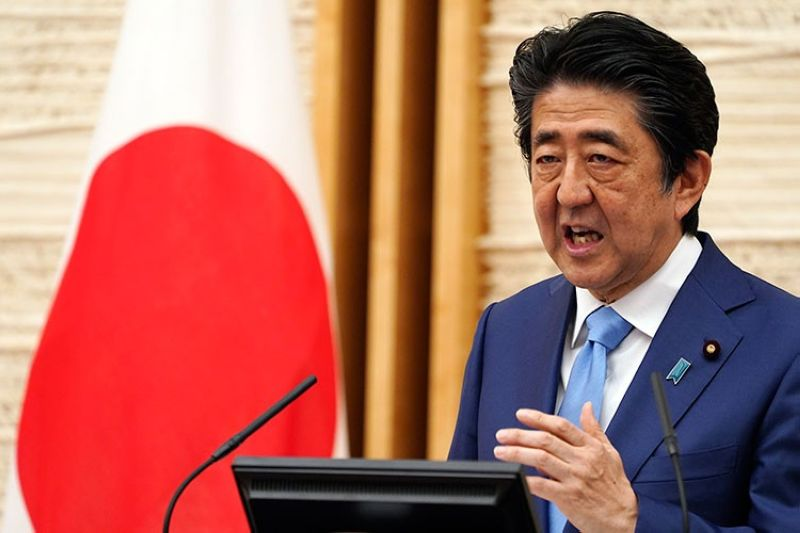 JAPAN. In this May 4, 2020, file photo, Japan's Prime Minister Shinzo Abe speaks during a press conference at his official residence in Tokyo. Japan's NHK and other media say Friday, August 28, 2020, Prime Minister Shinzo Abe has expressed his intention to step down, citing his health. (AP)