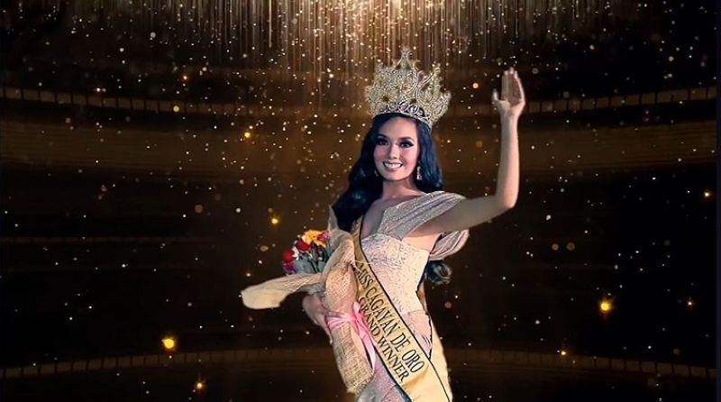 CAGAYAN DE ORO. Jeza Chrystil Relevo, representing Barangay Bonbon, was crowned as the Miss Cagayan de Oro 2020 in the first virtual coronation night last Thursday, August 27. (Screenshot from Miss Cagayan de Oro's Facebook video)