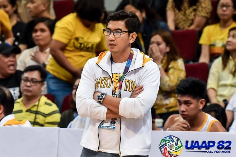 """The issue revolving around UST and the alleged """"bubble training"""" their men's basketball team engaged in remains unresolved even after a lengthy meeting involving different parties on Tuesday.  (The UAAP)"""