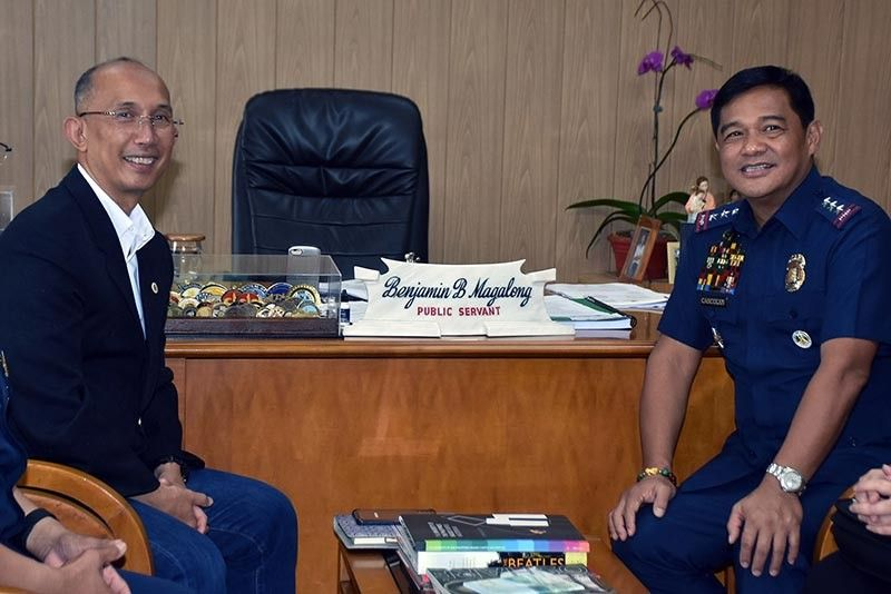 NEW PNP CHIEF. President Rodrigo Duterte designated Philippine National Police (PNP) Deputy Chief for Administration Lt. Gen. Camilo Cascolan as the next chief of the police force effective September 2. Cascolan hails from Baguio City and is a member of the Philippine Military Academy Class of  1986. In the file photo, Cascolan met with Baguio City Mayor Benjamin Magalong during a courtesy call in September last year. (Redjie Melvic Cawis)