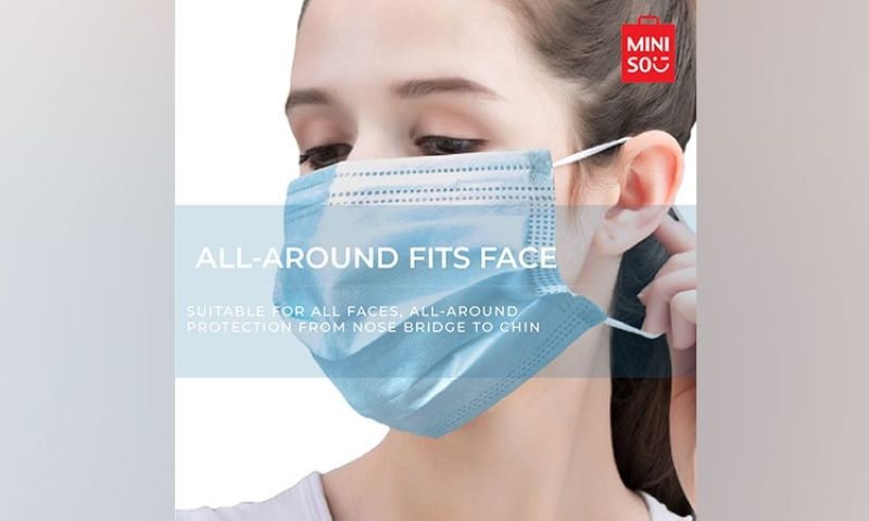 MANILA. Keep yourself protected at all times with Miniso's All-Around Fits Face Mask, which offers all-around protection from nose bridge to chin. Order yours now at Miniso. (Contributed photo)