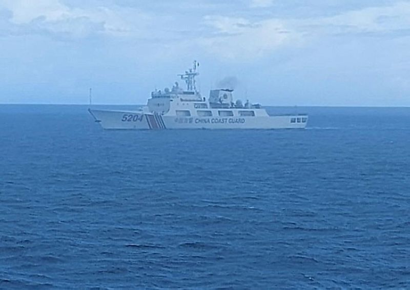 INDONESIA. This undated photo released on Tuesday, September 15, 2020, by Indonesian Maritime Security Agency (Bakamla) shows a Chinese Cost Guard ship sails in North Natuna Sea. (AP)