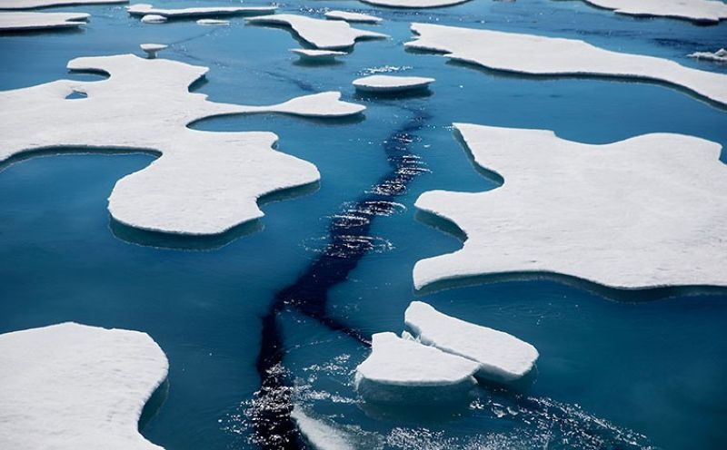 USA. Sea ice breaks apart as the Finnish icebreaker MSV Nordica traverses the Northwest Passage through the Victoria Strait in the Canadian Arctic Archipelago in a Friday, July 21, 2017 file photo. (AP)