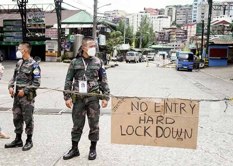 VIRUS CONTAINMENT. Following the surge of Covid-19 cases in Barangay Sto. Nino Slaughter House compound, the City Government of Baguio imposed