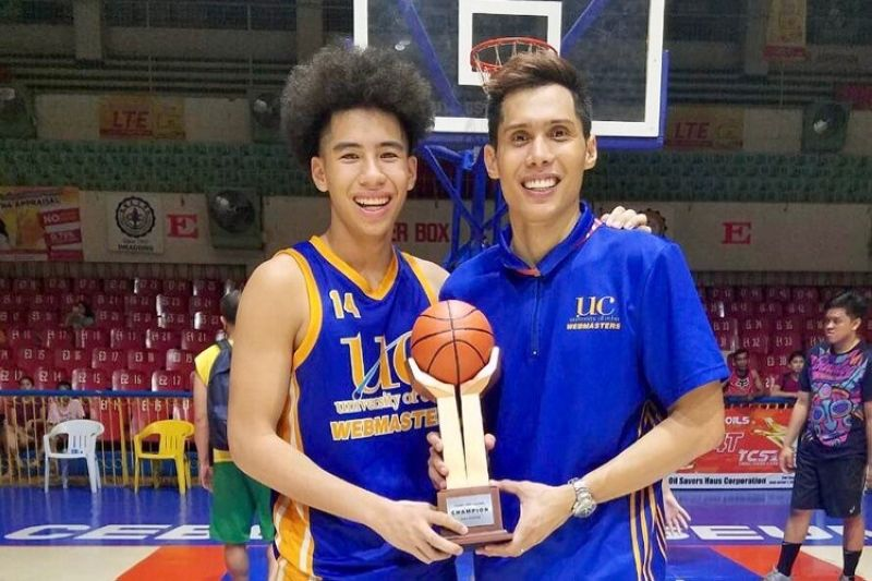 Cebuano basketball legend Dondon Hontiveros says that when it comes to guiding his son, especially in basketball, he is quite strict. (Don Hontiveros Facebook page)