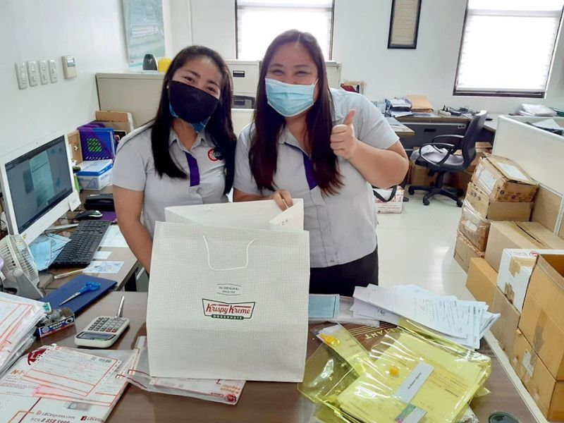 Donuts for DMI Medical Supply employees delivered by BAI delivery