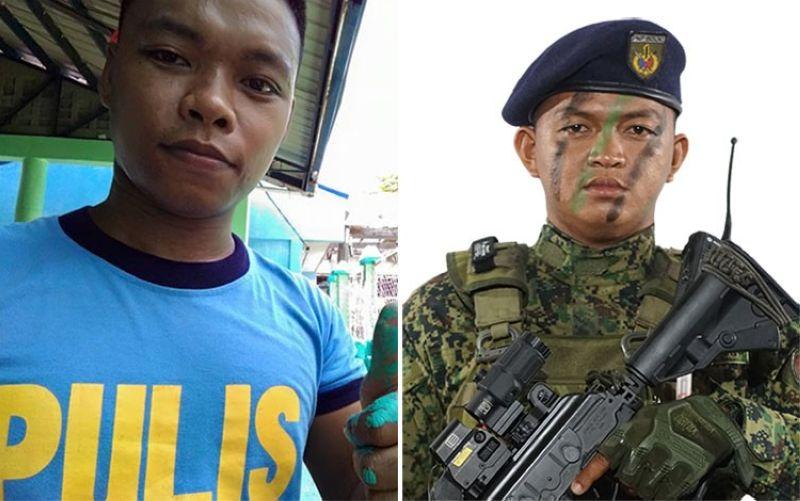 SAMAR. Patrolman Jessie Golondrina (left) and Patrolman Fernando Velarde Jr. (Photos from RPIO/PRO-Eastern Visayas)
