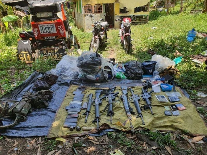 ZAMBOANGA. In this file photo, high-powered rifles and other war materials, including motorcycles and a tricycle were recovered after a clash allegedly with the Abu Sayyaf Group. (Contributed)