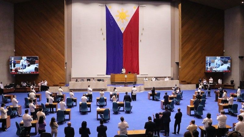 MANILA. The House of Representatives opens its special session on October 13, 2020 in compliance with Proclamation No. 1027 of President Rodrigo Duterte. (House of Representatives Photo)