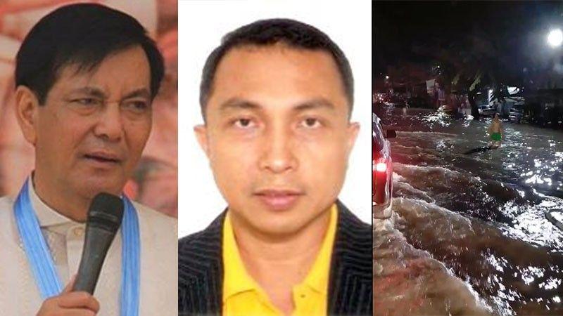 CEBU. Vice Mayor Mike Rama, DPWH-Central Visayas Director Edgar Tabacon and flooding in Mambaling, Cebu City last October 14, 2020. (Photos from SunStar, DPWH website and Charlz Dotollo Tenebroso)