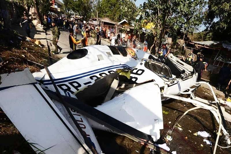LAGUNA. In this photo taken in March 2020, a Philippine National Police (PNP) Bell 429 helicopter crashes shortly after takeoff. (PNP)