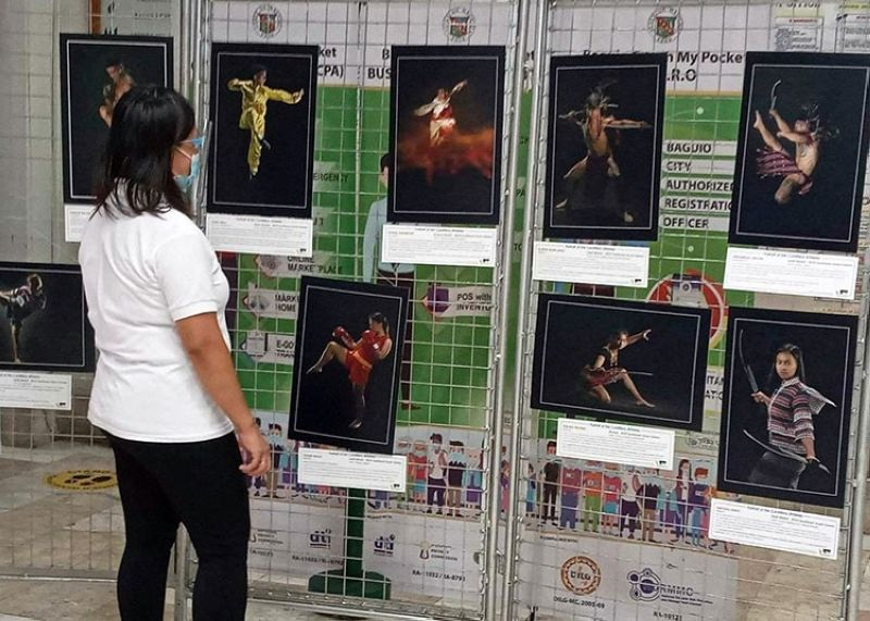 SPORTS EXHIBIT. On display this October at the Baguio City hall lobby is a photo exhibit of world-class Cordilleran athletes dressed in native attire in celebration of Indigenous People's Month. (Gaby Keith)