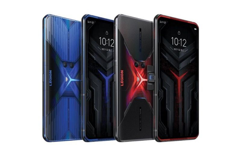 POWER. The Lenovo Legion Phone Duel comes in colors Vengeance Red and Blazing Blue. / LENOVO