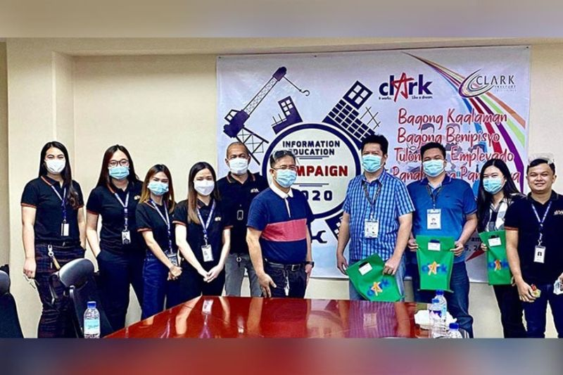 IEC IN THE NEW NORMAL. Clark Development Corporation through its External Affairs Division headed by Assistant Vice President Rommel Narciso (6th, left) recently spearheaded an Information and Education Campaign Webinar for Clark locators. (CDC-CD)