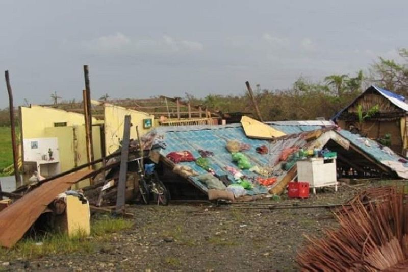 EASTERN SAMAR. Photo of Ronan Renz Napoto's house after it was flattened to the ground by Super Typhoon Yolanda on November 8, 2013. (Contributed photo)