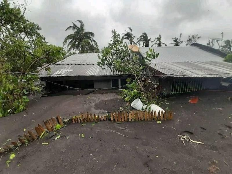BICOL. A house in Brgy. San Francisco, Guinobatan, Albay is inundated by lahar in the aftermath of Typhoon Rolly. (Rizalinda Narvaez via PIA Bicol)