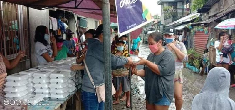 THE VALUE OF GIVING. Coming from the poverty line, Atty. Caesar Distrito conveys the importance of giving, not because he has much but because he has experienced such conditions in the past. (Contributed photo)