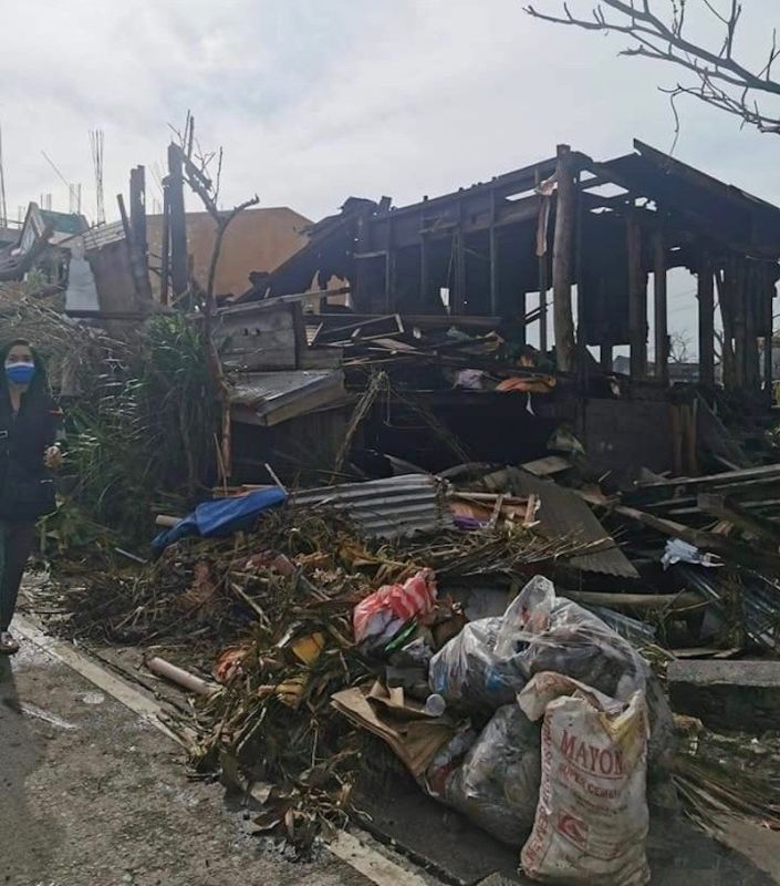 BICOL. Hundreds of houses in Virac, capital of Catanduanes, are destroyed by Typhoon Rolly. (OCD Bicol)