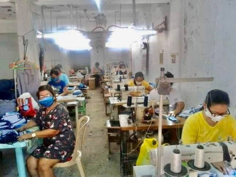 FACE MASKS PRODUCTION. Responding to the need for face masks among frontliners and health workers in the fight against the dreaded Covid-19, micro, small, and medium entrepreneurs of Pampanga that are into garments business produce thousands of washable and reusable face masks. (DTI)