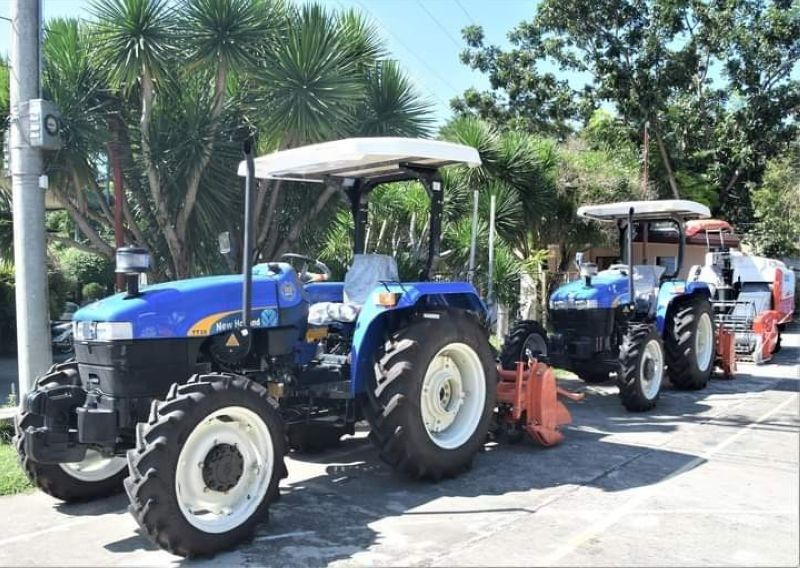 BACOLOD. Some of over P22 million worth of farm machinery received by the Members of the Federation of Irrigators' Association Central Negros – Bago River Irrigation System from the Provincial Government of Negros Occidental on Friday, November 13, 2020. (Capitol photo)