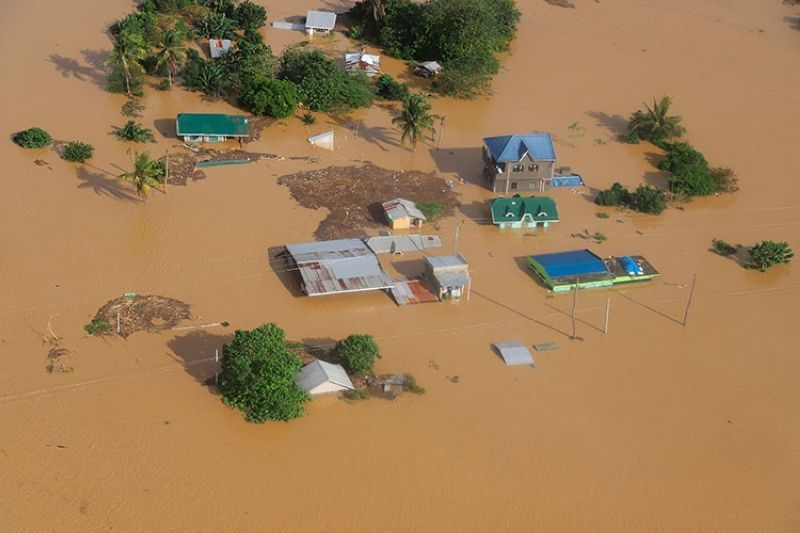 CAGAYAN. In this photo provided by the Philippine Coast Guard, houses are submerged in flooded areas in Cagayan Valley on November 14, 2020. (AP)