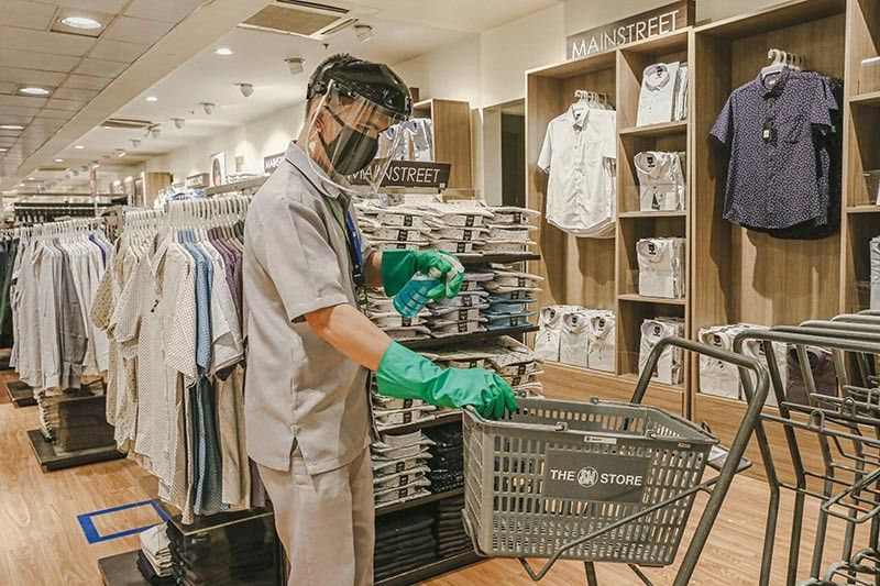 ENSURING SAFETY OF CUSTOMERS. Shopping carts, baskets, and public areas are regularly disinfected and sanitized. This is among the many safety precautions observed at The SM Store to ensure the safety of customers. (Contributed photo)