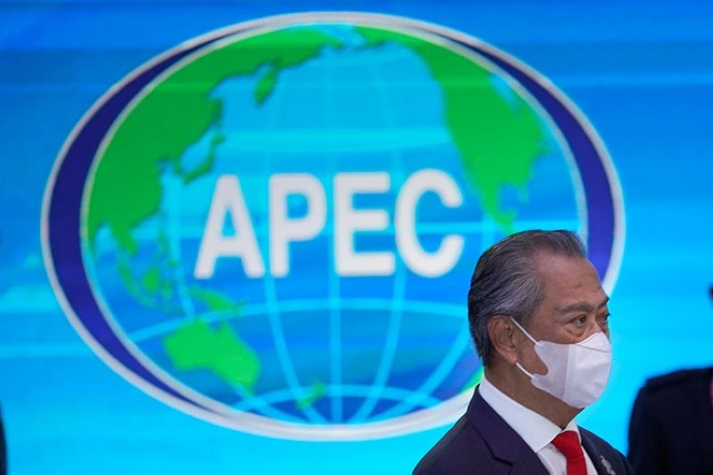 MALAYSIA. Malaysia's Prime Minister Muhyiddin Yassin arrives for the opening of the first virtual Asia-Pacific Economic Cooperation (Apec) leaders' summit, hosted by Malaysia, in Kuala Lumpur, Malaysia, Friday, November 20, 2020. (AP)