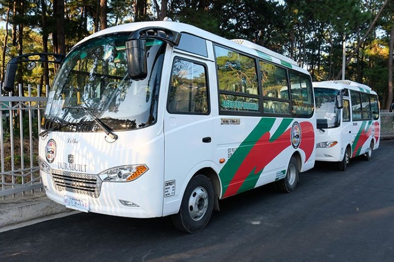 MODERN FLEET. The 15 units of Euro 4 compliant vehicles owned by the Cordillera Basic Sectors Transport Cooperative will soon ply the routes of Plaza-Aurora Hill and Plaza-Trancoville. However, transport groups in the city filed a petition against the modernization program. (Neil Clark Ongchangco)