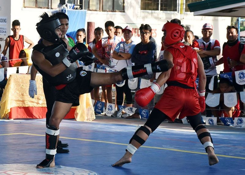 BANNED? Competitors in wushu see action during last year's Palarong Pambansa. Most competitors in Palarong Pambansa are minors and will no  longer soon be allowed to compete once House Bill 1526 becomes a law. (SunStar Baguio)