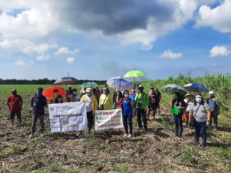 HINIGARAN. Some of the 67 agrarian reform beneficiaries in Hinigaran town were installed by the Department of Agrarian Reform in Negros Occidental-South recently. (Contributed Photo)