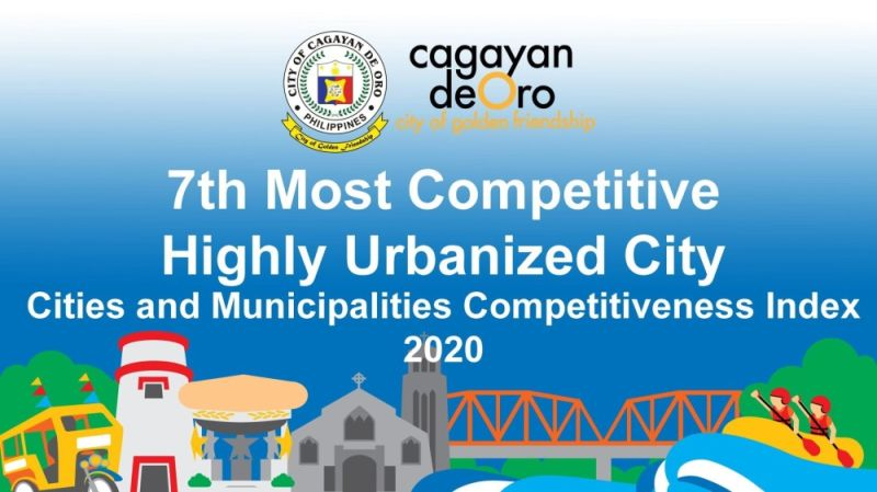 CAGAYAN DE ORO. Cagayan de Oro has retained its ranking this year as the seventh among the most competitive highly-urbanized cities in the Philippines. (Photo by City Information Office)