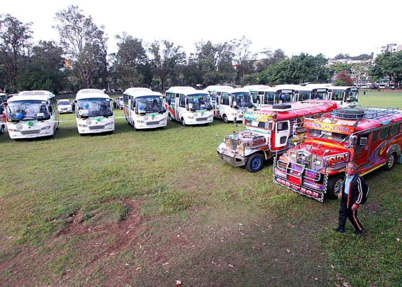 CONSIDERATION. Road condition should also be considered in the modernization of transportation in the Baguio City, according to the United Metro Baguio-Benguet Jeepney Federation after 30 units of mini busses started to ply the city's street last week. (Photo by JJ Landingin)