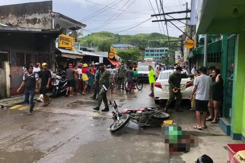 SAMAR.  Another victim of motorcyle-riding suspects  in Catbalogan City. (Contributed photo)