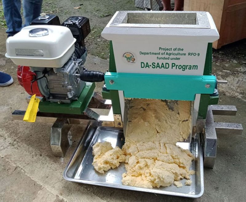 ZAMBOANGA. The Dampalan Farmer Association in Dapitan City, Zamboanga del Norte on Wednesday, December 16, received a cassava grater with presser worth P180,000 from the Department of Agriculture. A photo handout shows the cassava grater given to the association. (SunStar Zamboanga)