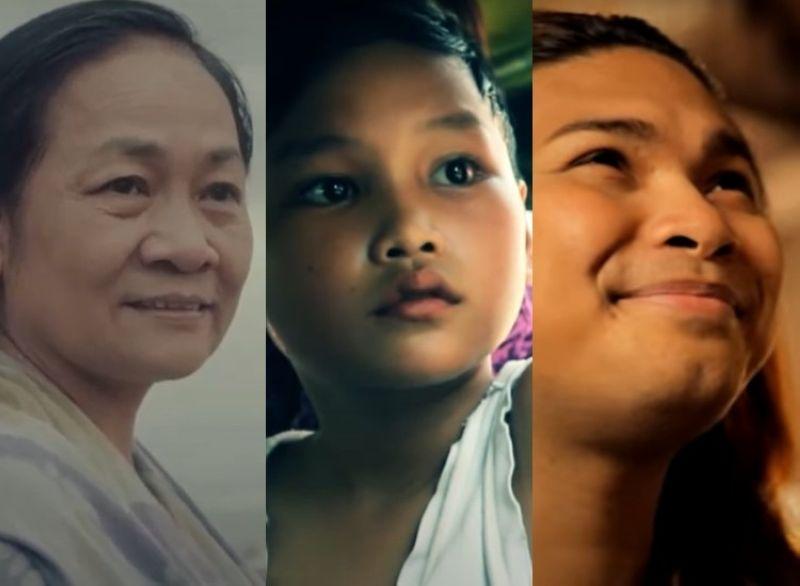 Screenshot from Sinulog films Igsuon (2016), Gasa (2013), and Ang Gugmang Ti-unay ni Daniella (2013)