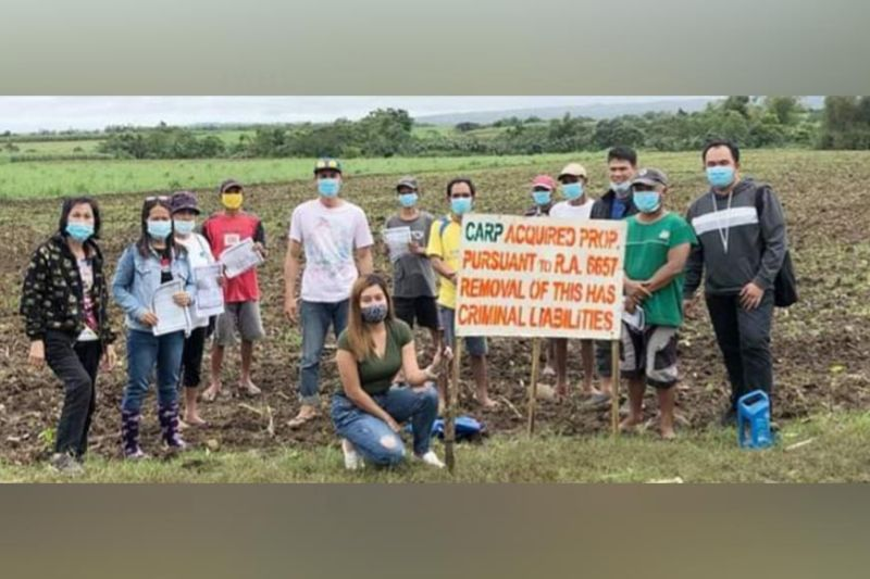 CADIZ. The Department of Agrarian Reform in Negros Occidental-North installs 19 agrarian reform beneficiaries in a 23-hectare land in Cadiz City earlier this week. (Contributed photo)