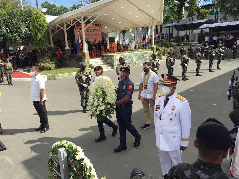 MANILA. Police commemorate death of SAF 44 on January 25, 2021. (Third Anne Malonzo)