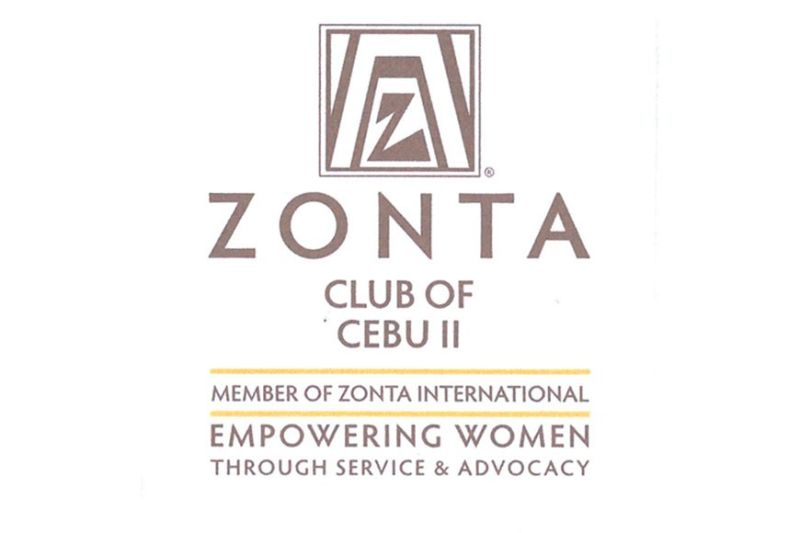 ZONTA. Logo of Zonta International, a ladies' club for empowering women worldwide, and at right, logo of Z Club, a junior club of Zonta, with students as members.