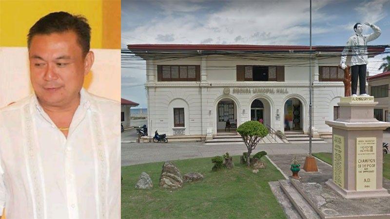 CEBU. Sibonga Mayor Lionel Bacaltos and facade of the Sibonga town hall. (SunStar File/Google Street View)
