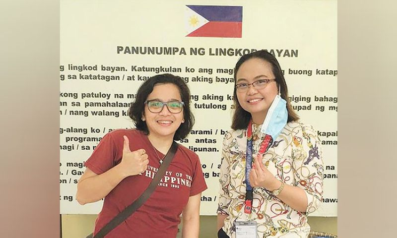 DAVAO. DOST Nicer AMBDABiDSS-Health Program leader Dr. May Anne Mata (left) and RESILIEMC project leader Dr. Gernelyn Logrosa. (Contributed photo)