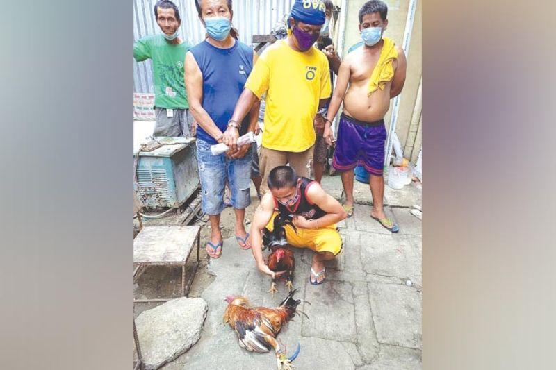 MGA SUGAROL: Kabahin kini sa mga sugarol sa tigbakay nga nadakpan sa Barangay Tejero sa kapulisan ubos sa  Parian Parian Police Station. / Benjie B. Talisic