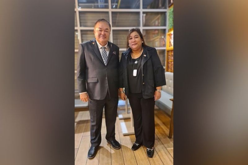 BACOLOD. Rotary International 3850 District Governor Louie Gonzaga with newly elected District Governor Nominee Designate (DGND) Maria Ester