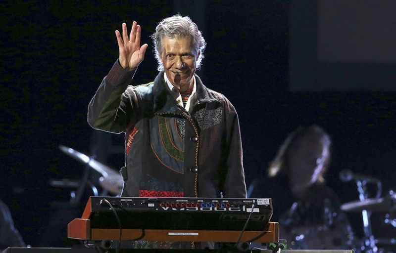 Chick Corea performs at the 62nd annual Grammy Awards on Jan. 26, 2020, in Los Angeles. Corea, a towering jazz pianist with a staggering 23 Grammy awards who pushed the boundaries of the genre and worked alongside Miles Davis and Herbie Hancock, has died. He was 79. Corea died Tuesday, Feb. 9, 2021, of a rare for of cancer, his team posted on his web site. His death was confirmed by Corea's web and marketing manager, Dan Muse. (AP File Photo)