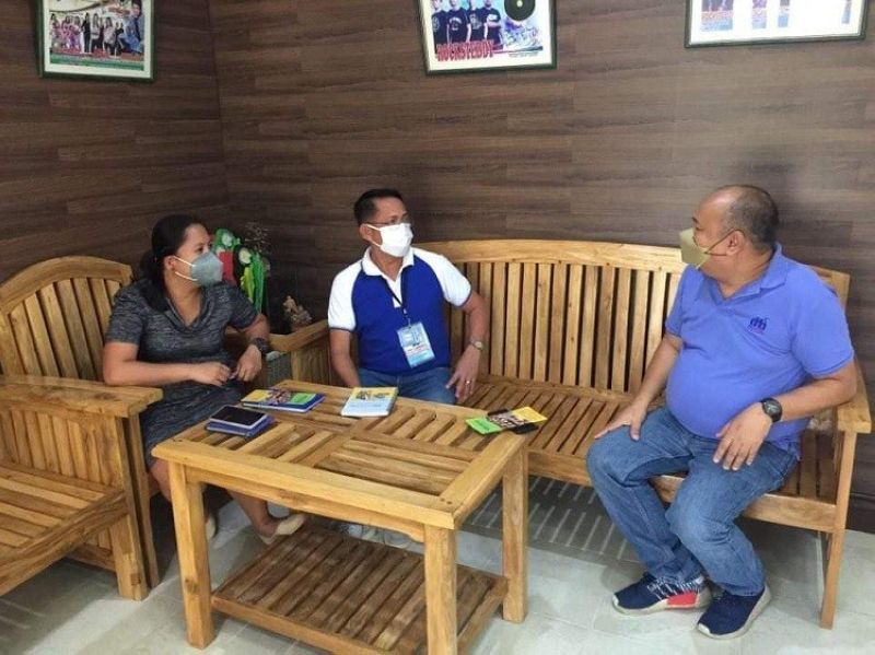 BACOLOD. DTI-Negros Occidental Industry Development Division Officer-In-Charge Chief Engiemar Tupas (right) during the validation for the establishment of Negosyo Center in Toboso town Thursday, February 11, 2021. (GAB Advincula photo)