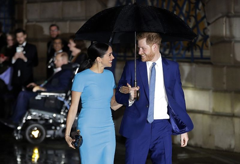 Britain's Prince Harry and Meghan arrive at the annual Endeavour Fund Awards in London, Thursday, March 5, 2020. The Duke and Duchess of Sussex are expecting their second child, their office confirmed Sunday, Feb. 14, 2021. (AP file photo)